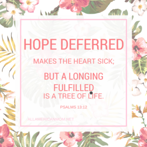Psalms 13:12, Hope deferred, Sarah Philpott
