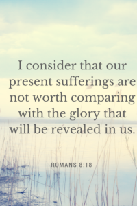 I consider that our present sufferings