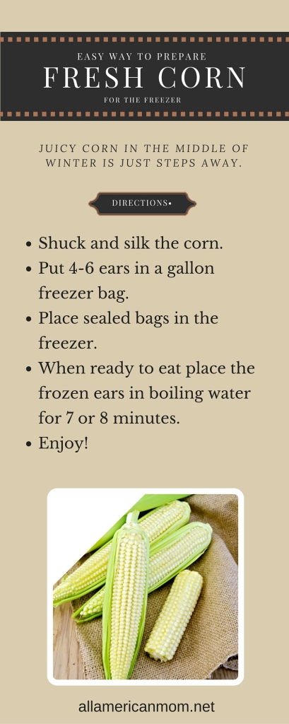 Preparing Fresh Corn for the Freezer